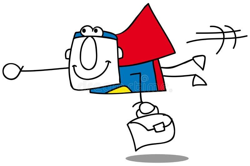 Toppen fluga för affärsman royaltyfri illustrationer