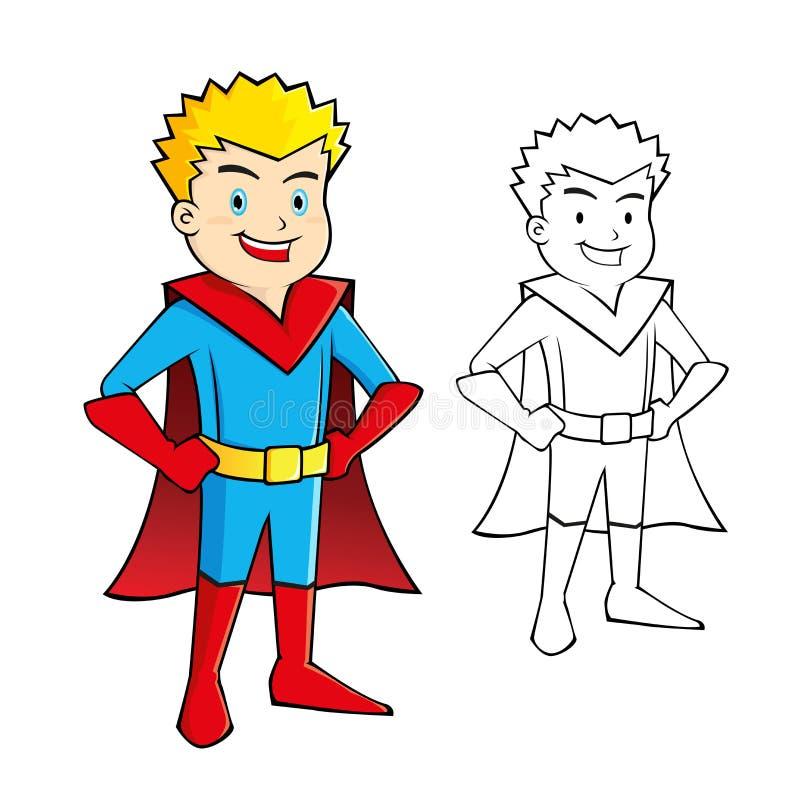 Toppen hjälte för ung pojke royaltyfri illustrationer