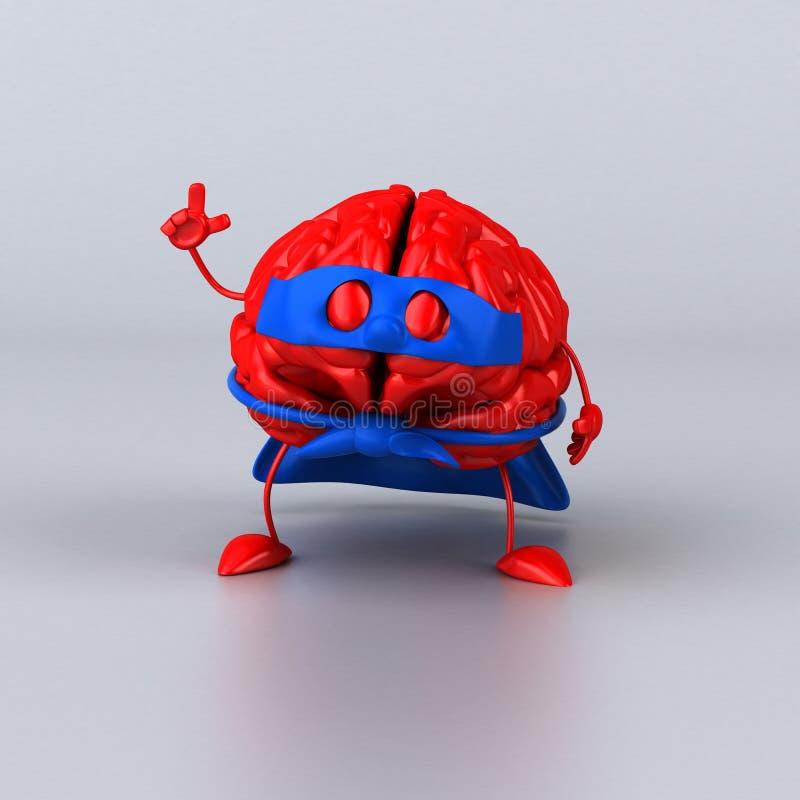 Toppen hjärna stock illustrationer