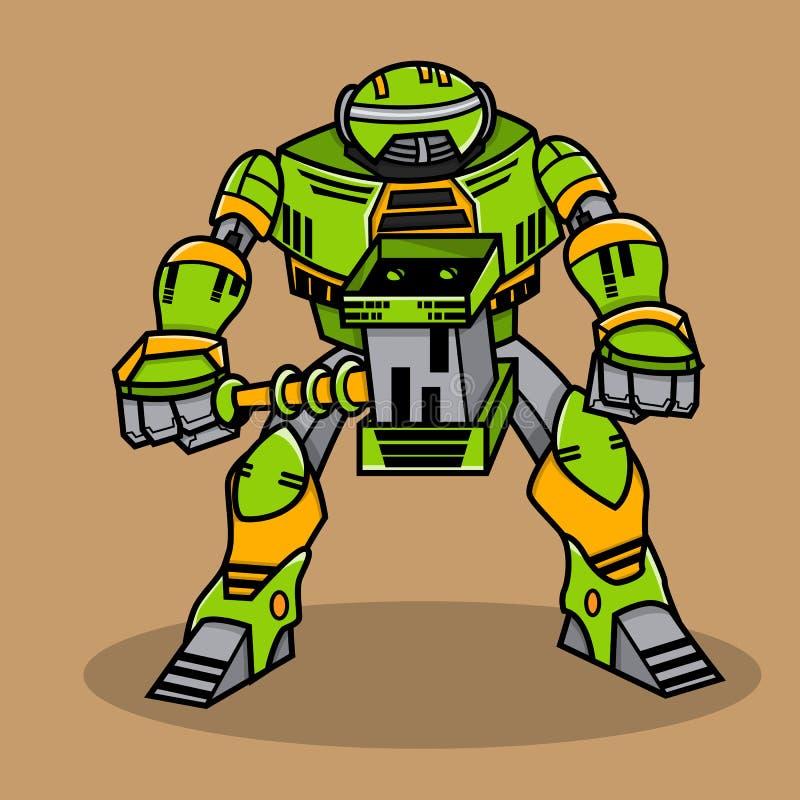 Toppen krigrobot vektor illustrationer
