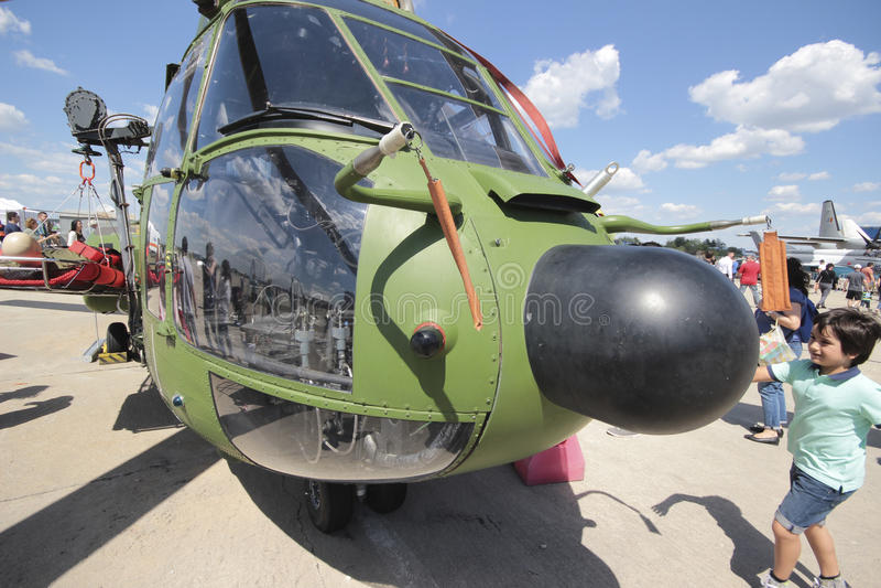 Toppen kuguarhelikopter royaltyfri foto