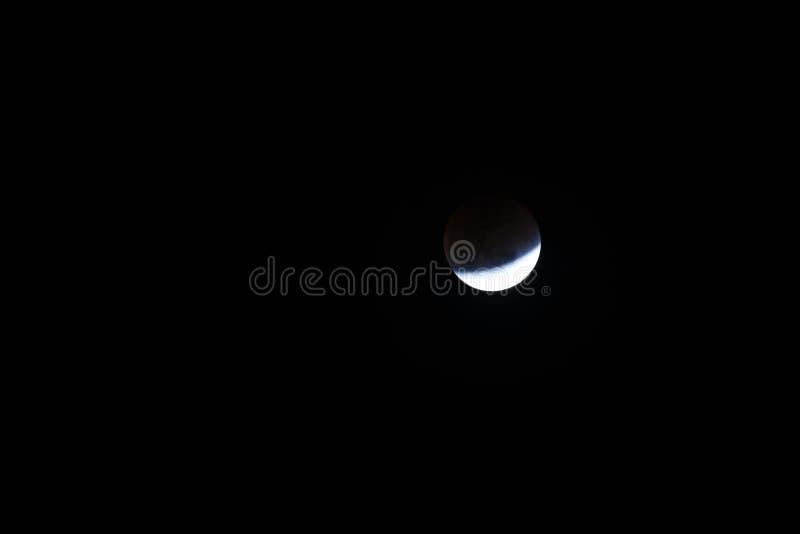 Toppen måne och månförmörkelse för blått blod royaltyfri foto