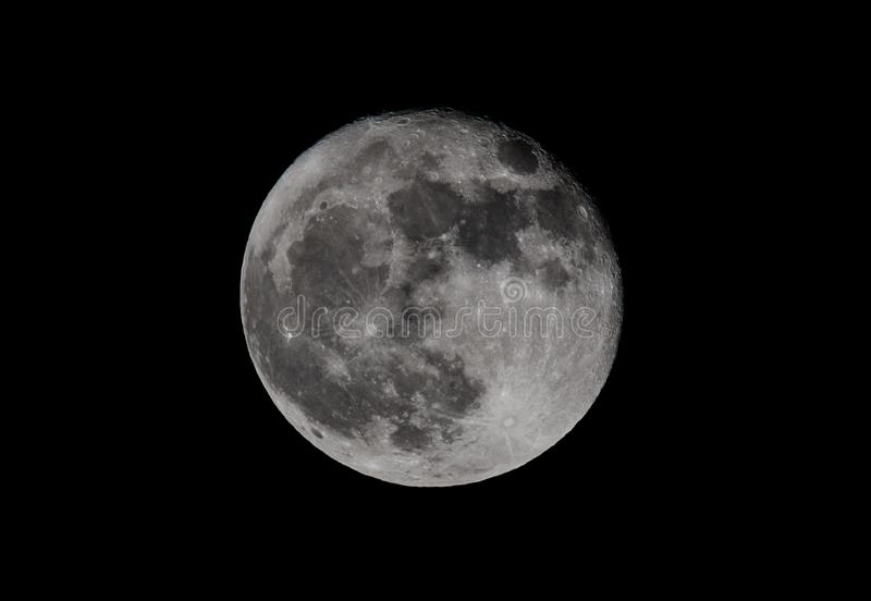Toppen månezoom royaltyfri bild