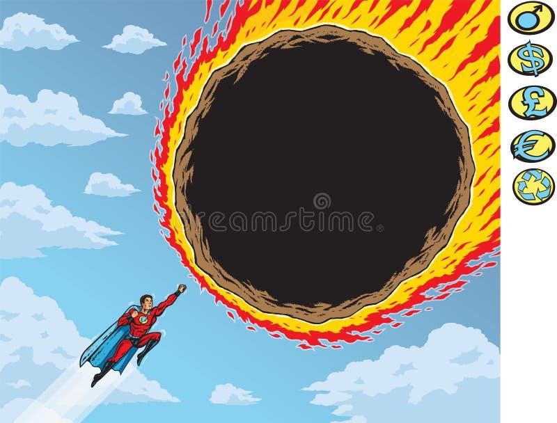 Toppen meteor royaltyfri illustrationer