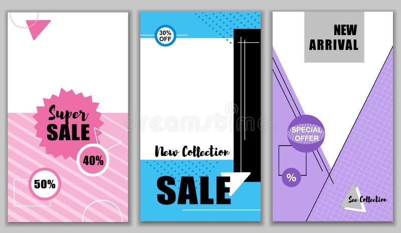 Toppen Sale ny 40 50 procent samling Uppsättning vektor illustrationer