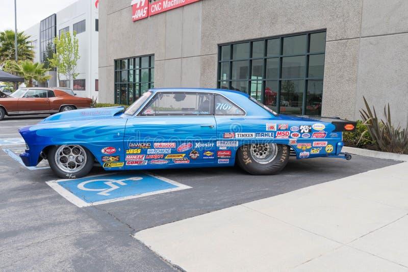 Toppen sport för Chevrolet nova II på skärm arkivfoton
