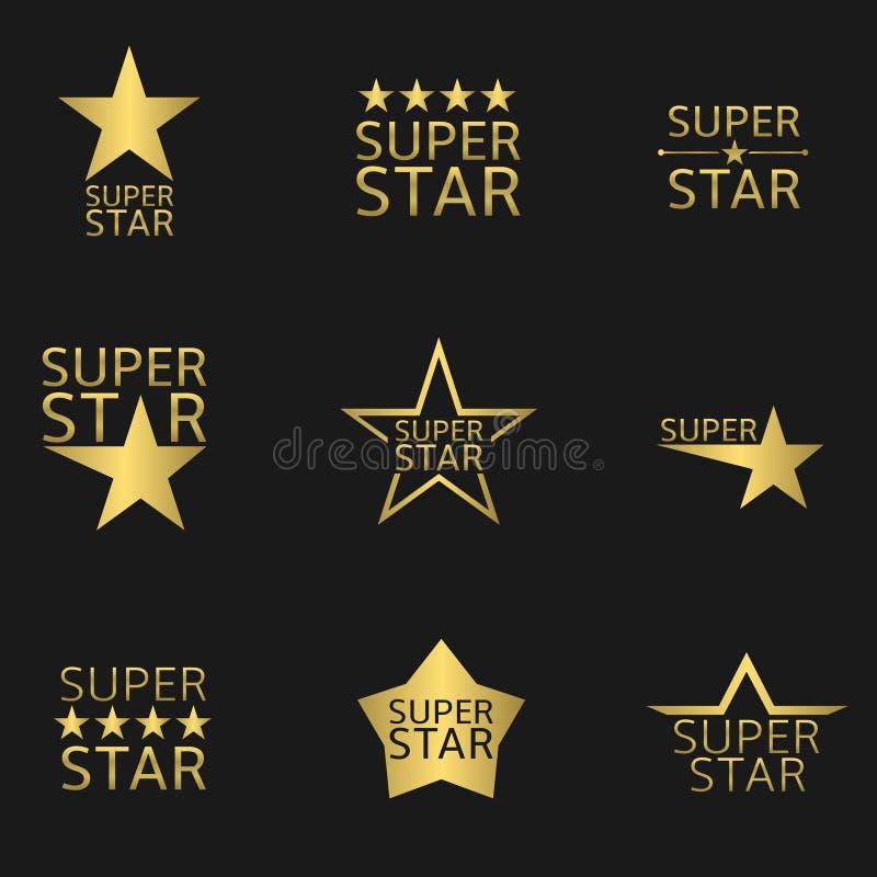 Toppen stjärna vektor illustrationer