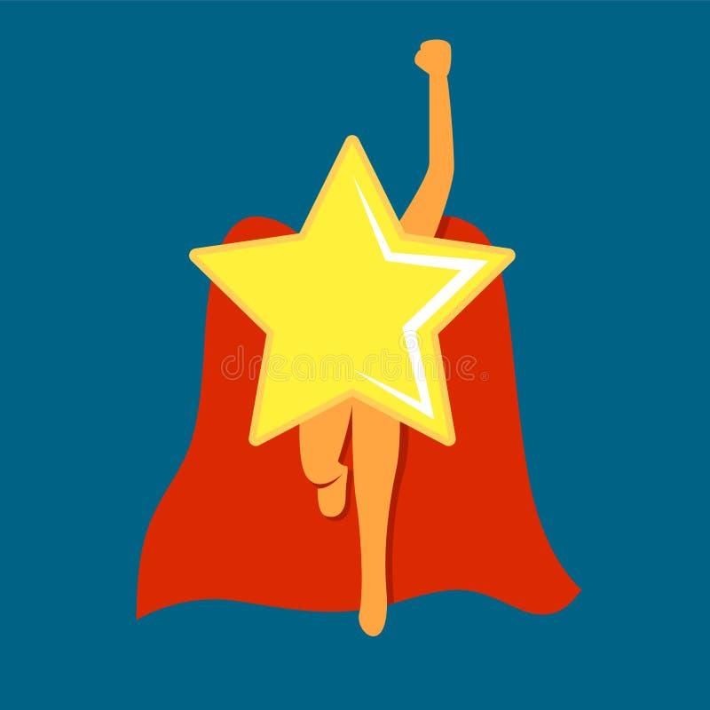 Toppen stjärna med udde eller kappan Komikerstil Duva som symbol av f?r?lskelse, pease fotografering för bildbyråer