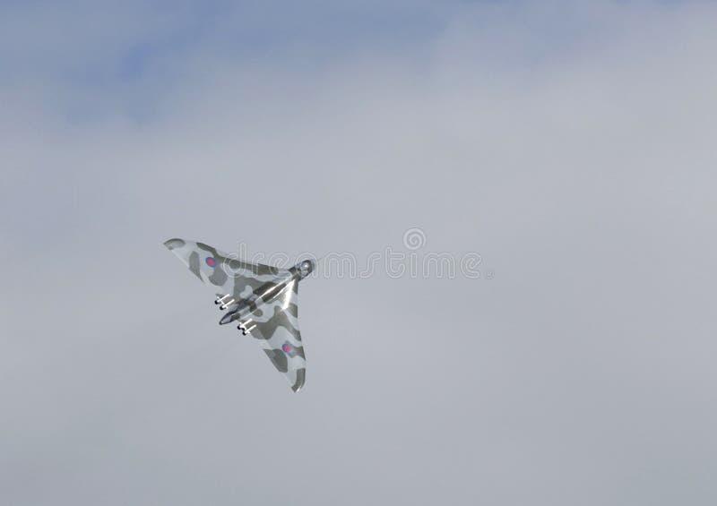 TOPPEN STO FÖR WESTON, UK - JUNI 21: Avro Vulcan bombplanflygplan XH5 royaltyfria bilder