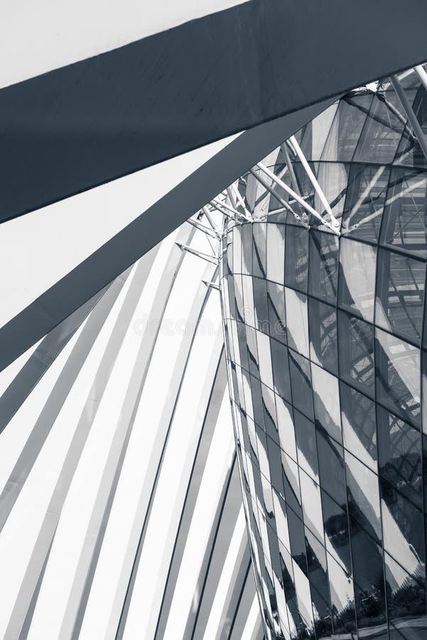 Toppen struktur- och arkitekturfasad av modern byggnad, Abst arkivbilder