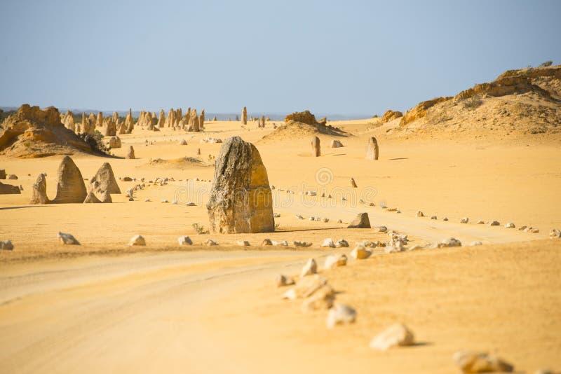 Toppenwoestijn Nambung Australië stock foto