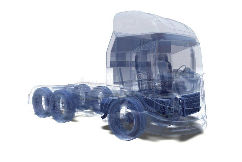 Toppet åka lastbil fotografering för bildbyråer