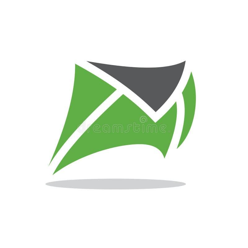 Toppet fastar post eller meddelandet stock illustrationer