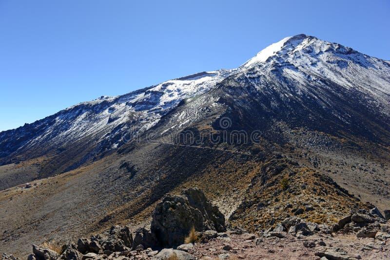 Toppig bergskedja Negra vulkan, Mexico royaltyfri foto