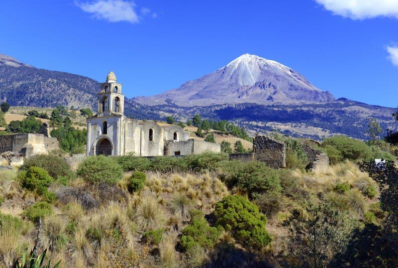 Toppig bergskedja Negra vulkan, Mexico royaltyfri fotografi