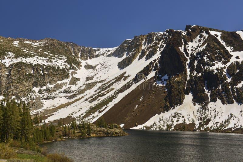 Toppig bergskedja Nevada royaltyfria bilder
