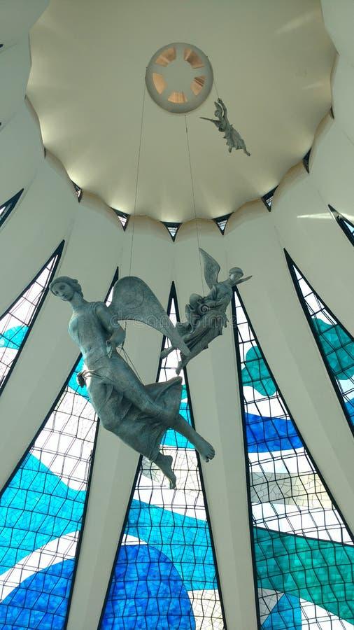 Toppmöte BrasÃlia Catedral arkivbild