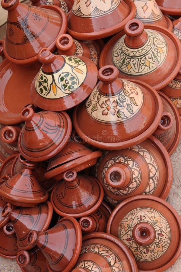 Tops of clay crockery royalty free stock photography