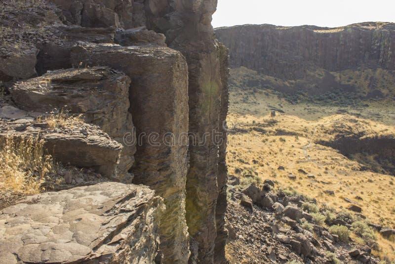 Tops de columnas del basalto fotografía de archivo libre de regalías