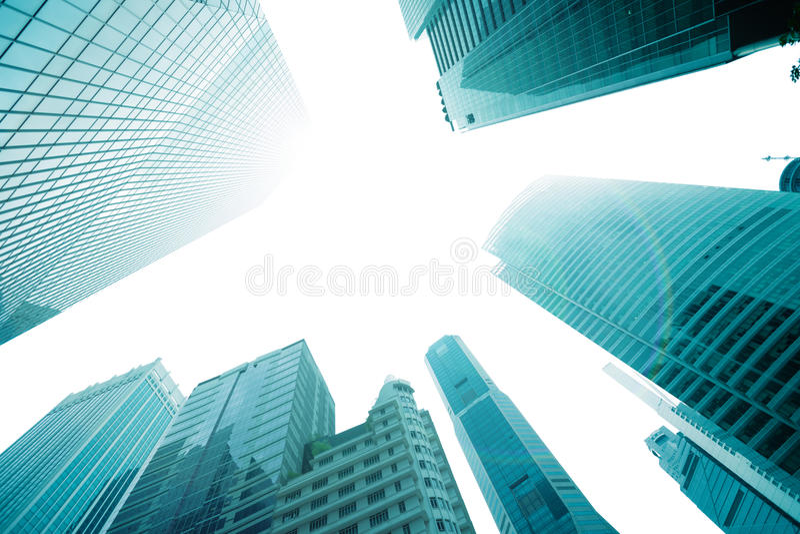 Tops de rascacielos contra el cielo fotos de archivo libres de regalías