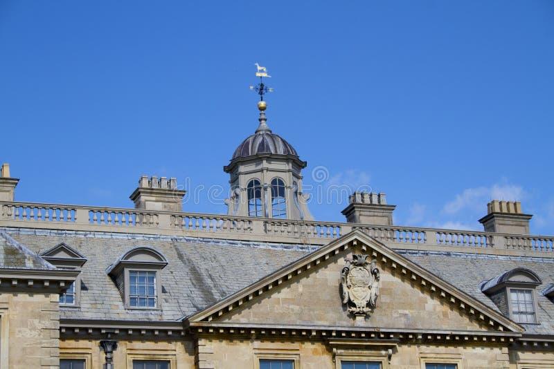 Tops del tejado de la casa de Belton imagenes de archivo