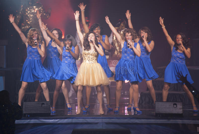 Tops en concierto azul foto de archivo libre de regalías