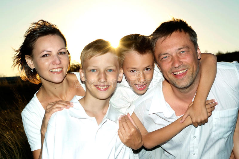 Tops family together stock photography