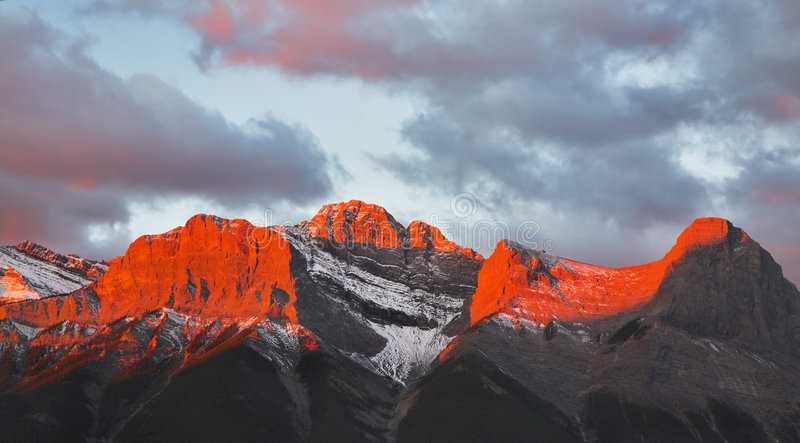 Tops of mountains stock photo