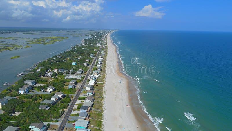 Topsail-Strand und Ton, North Carolina stockfoto