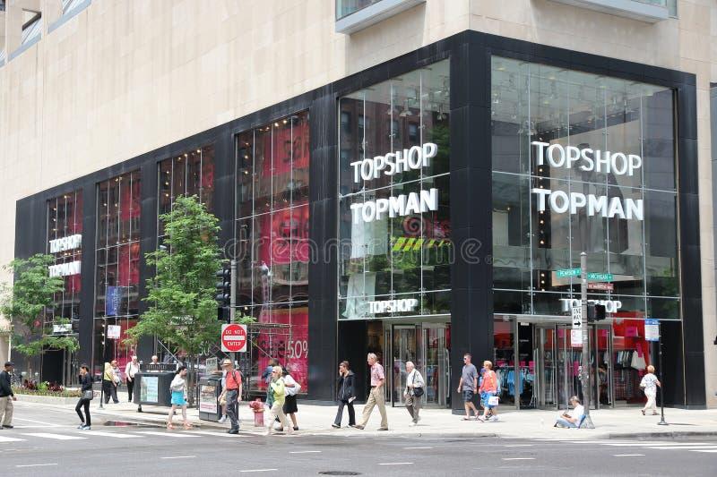 Topshop Topman fotografia stock