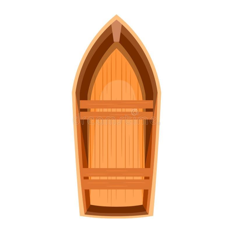 Topview av ett träfartyg royaltyfri illustrationer