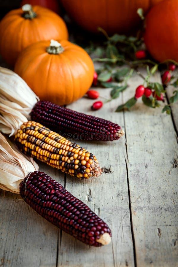 Topview della decorazione di autunno fotografie stock libere da diritti