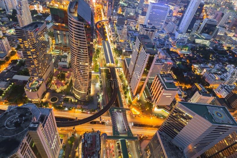 Topview des affaires d'immeuble de bureaux de Bangkok du centre image stock