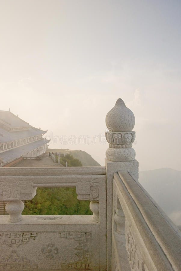 Topview of Emei mountain stock images