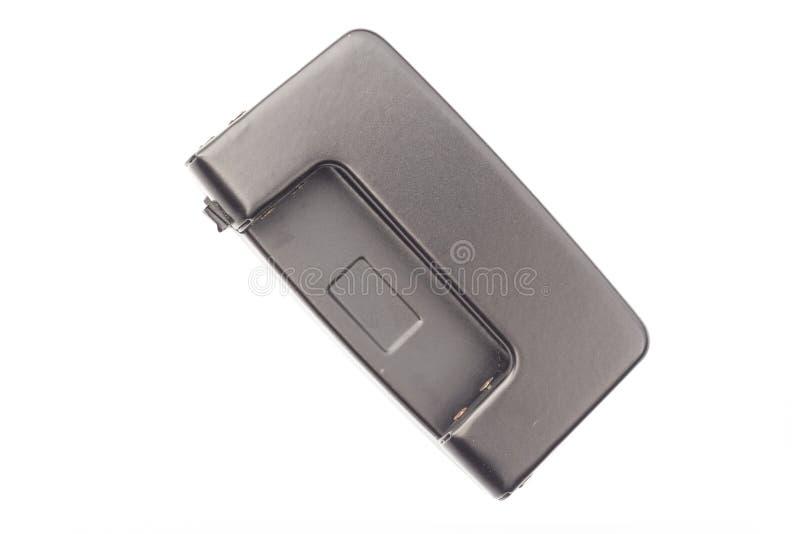 Topview empaquettent le perforateur de trou d'isolement sur le backgr blanc photographie stock