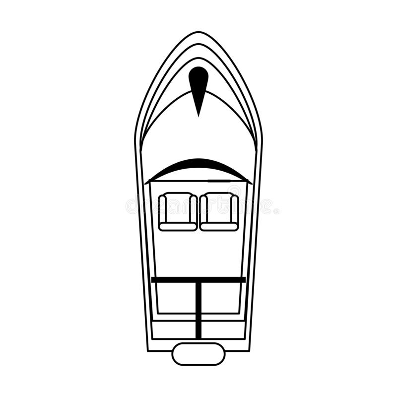 Topview för havsfartyg vektor illustrationer
