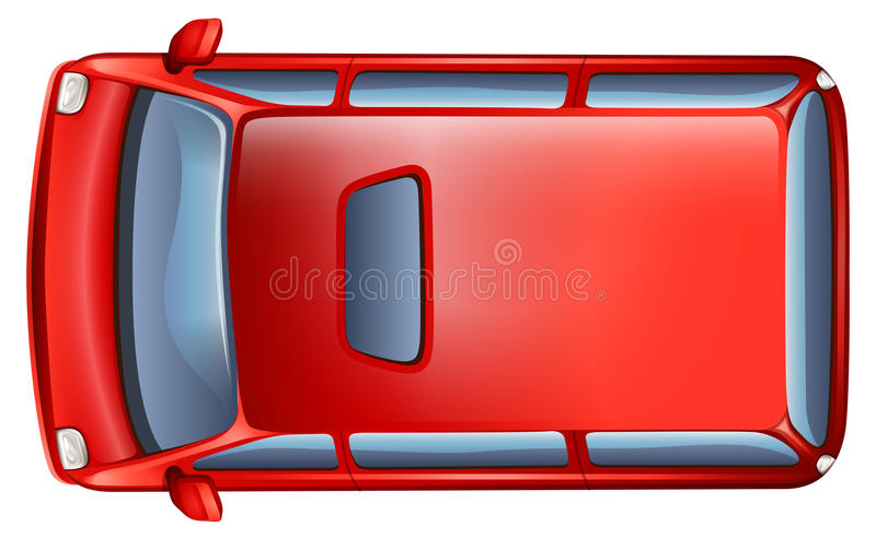 A topview of a minivan. On a white background royalty free illustration