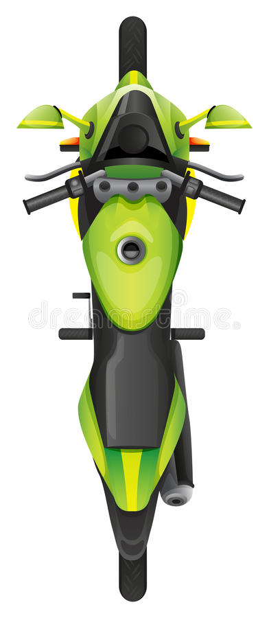 Topview motocykl royalty ilustracja