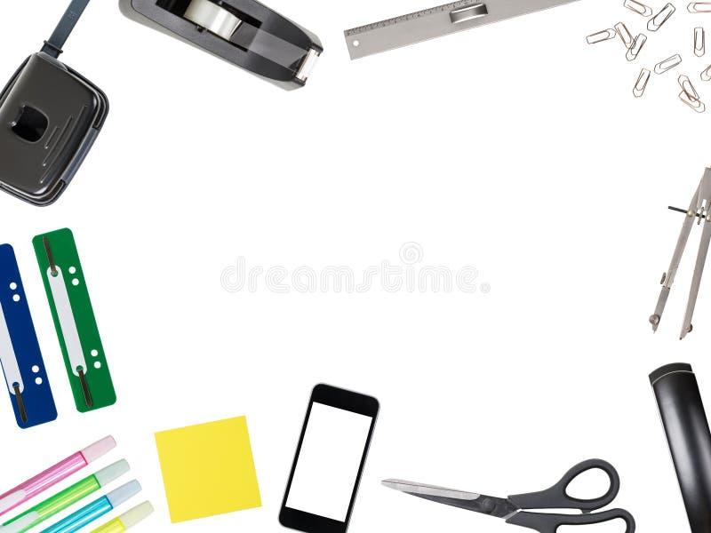 Topview na mesa de escritório para negócios fotos de stock