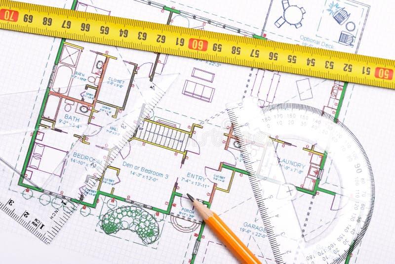 Topview van vloerplan stock fotografie