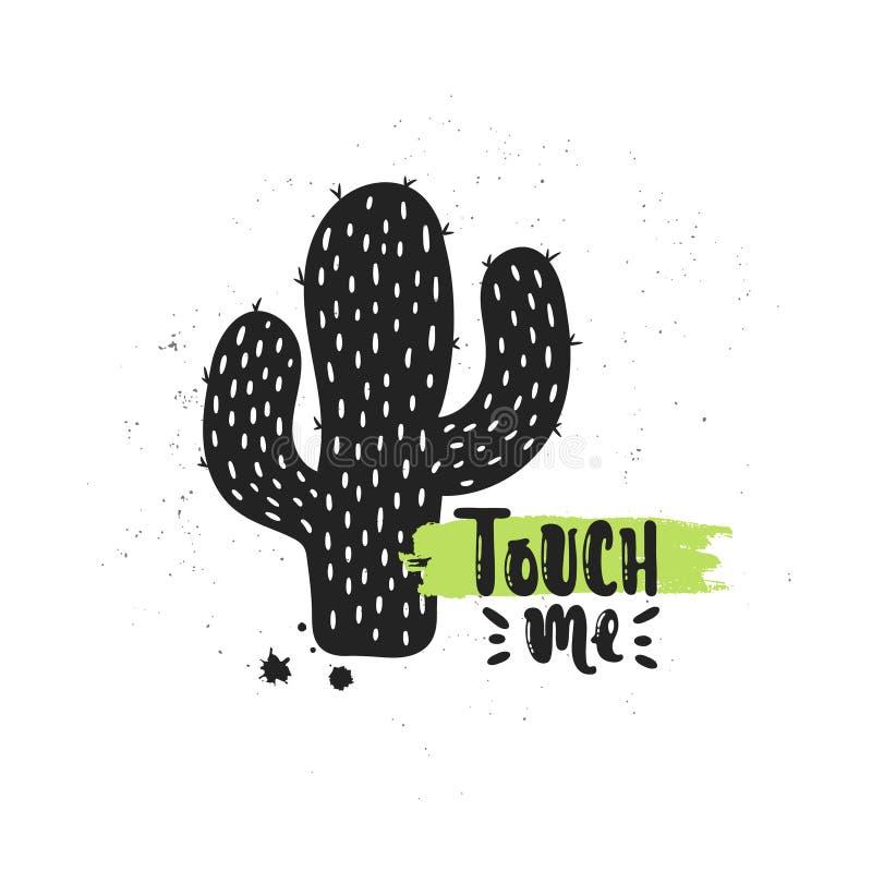Toqúeme cactus ilustración del vector