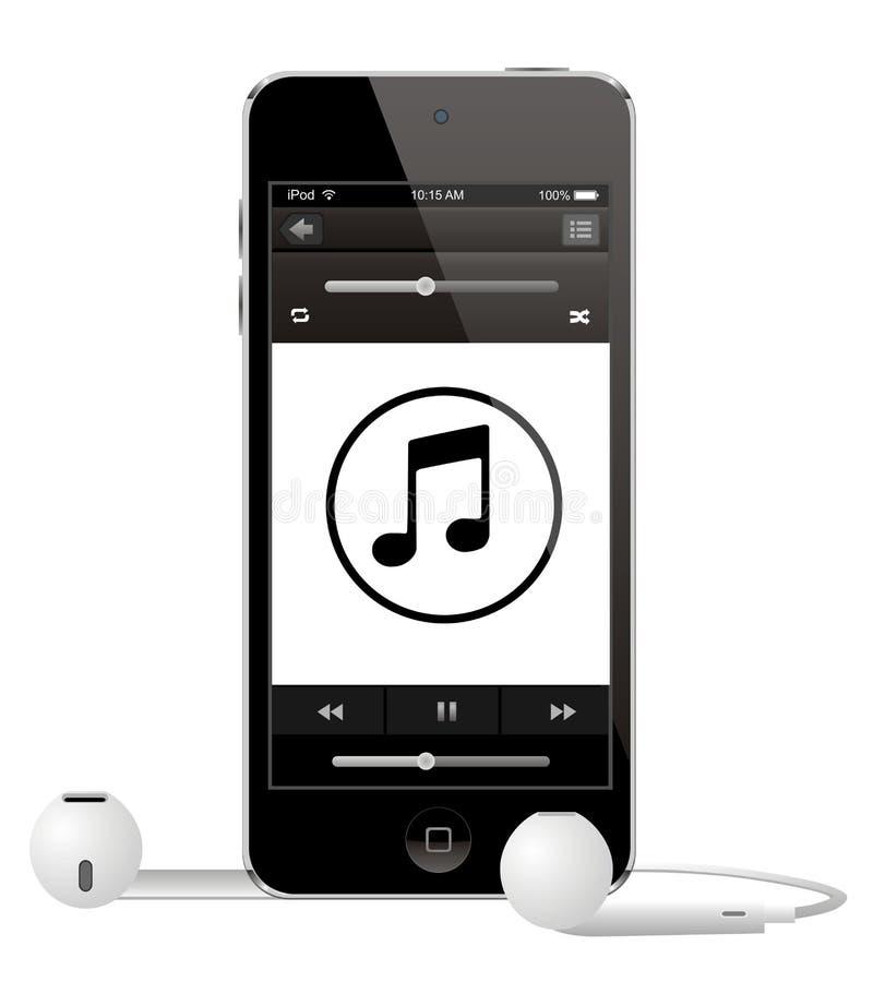 Toque de Apple IPod ilustração stock