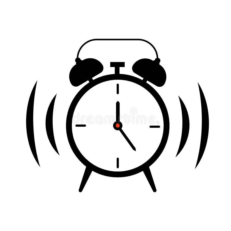 Toque do relógio do alarme ilustração stock