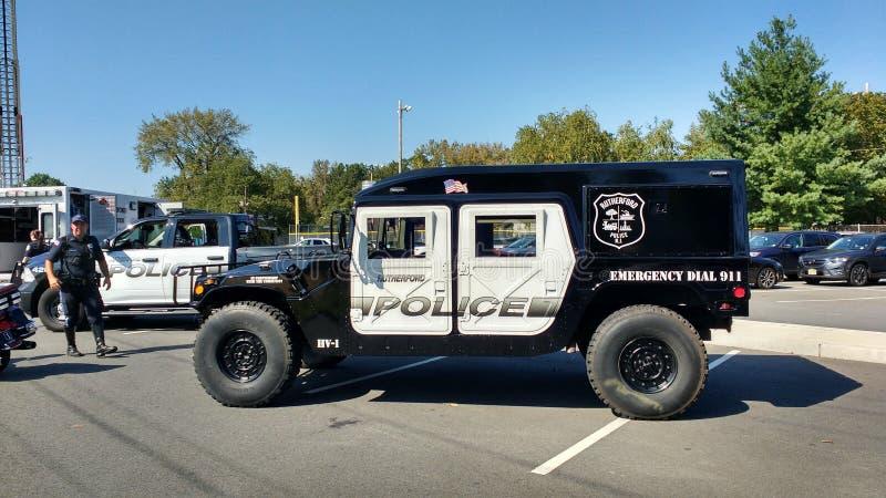 Toque em um evento da comunidade do caminhão, Rutherford, NJ, EUA foto de stock royalty free