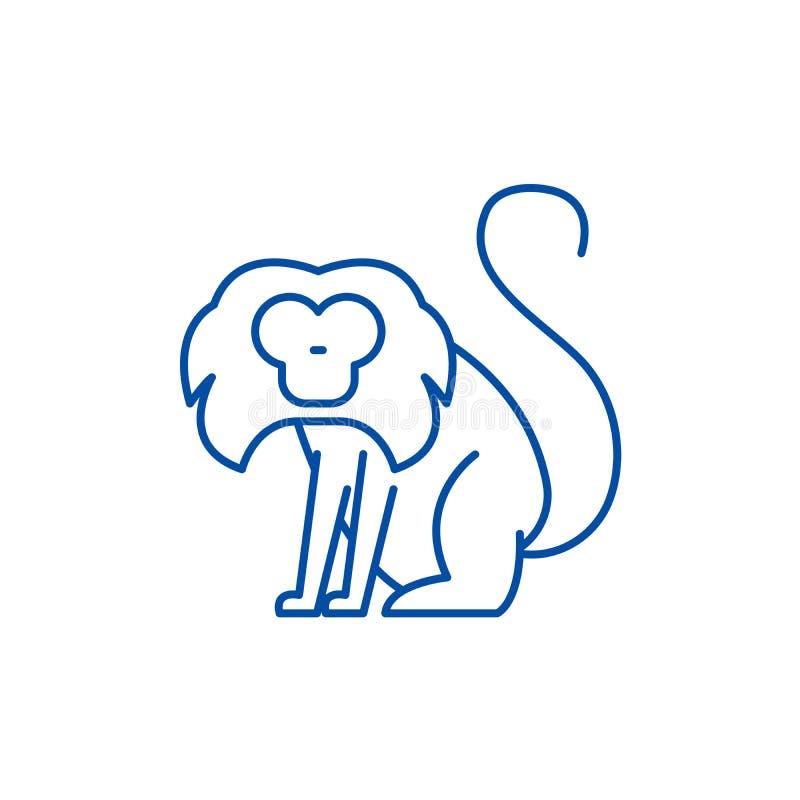 Toque ikony kreskowy pojęcie Toque płaski wektorowy symbol, znak, kontur ilustracja ilustracja wektor