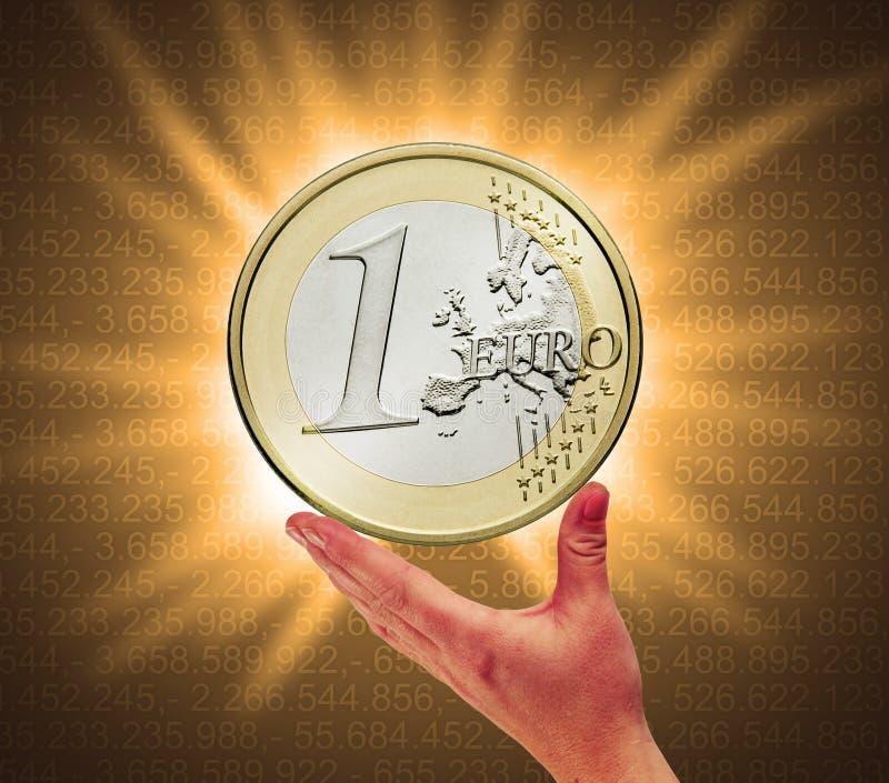 Toque la moneda imagen de archivo libre de regalías