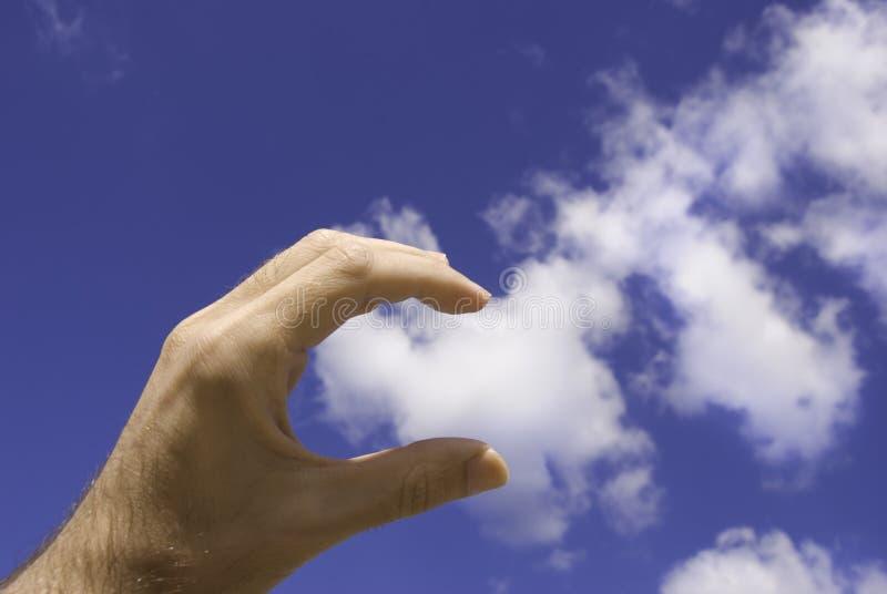 Toque la nube imagenes de archivo