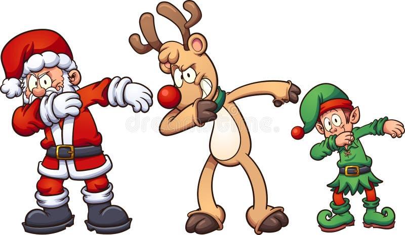 Toque ligeiro do Natal ilustração do vetor