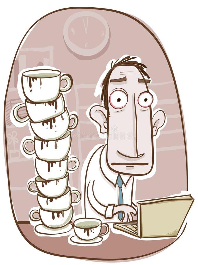 Toque mucho café stock de ilustración