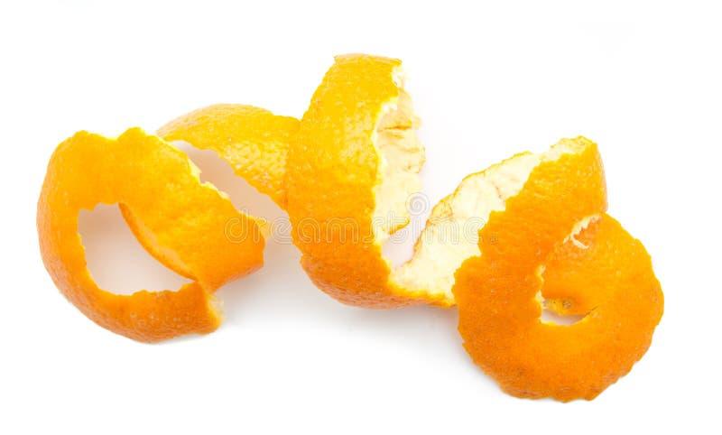 Torção alaranjada da casca do citrino foto de stock royalty free